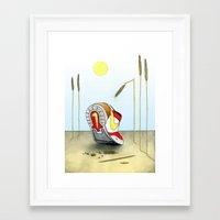 nike Framed Art Prints featuring Nike by Alex Drubetsky