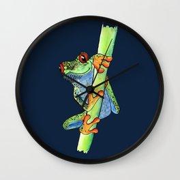 Kiss Me Frog - Dark blue edition Wall Clock