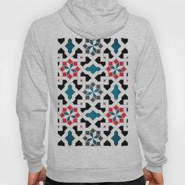 Oriental Pattern - Geometric Design, red / blue / grey Hoody