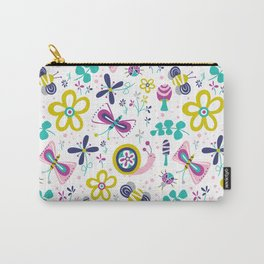 Happy Critters White Carry-All Pouch