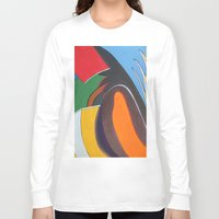 art deco Long Sleeve T-shirts featuring Art Deco Revival by Ana Lillith Bar