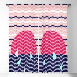 Hello Ocean Sunset Waves Blackout Curtain