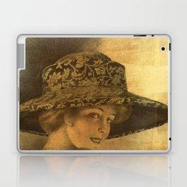 Golden victorian lady Laptop & iPad Skin