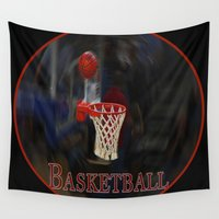 basketball Wall Tapestries featuring Basketball by LoRo  Art & Pictures