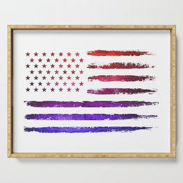 Red & blue gradient USA flag Serving Tray