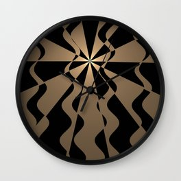 Trendy abstract in gold and black Wall Clock