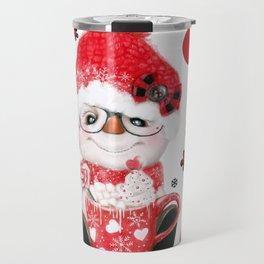 JOY - PEPPERMINT SNOWMAN Travel Mug