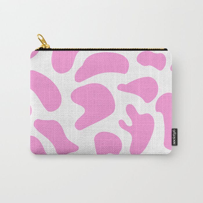 Girly Soft Pink Cow Spots Pattern Carry All Pouch by Society6