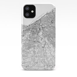 Cleveland White Map iPhone Case