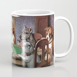 Dogs Playing Poker A Friend in Need Painting Coffee Mug