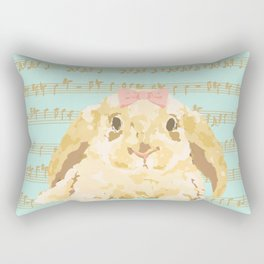 Bunny Composition (gold/mint) Rectangular Pillow