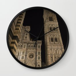 piazza del duomo cathedral square Firenze Tuscany Italy Wall Clock