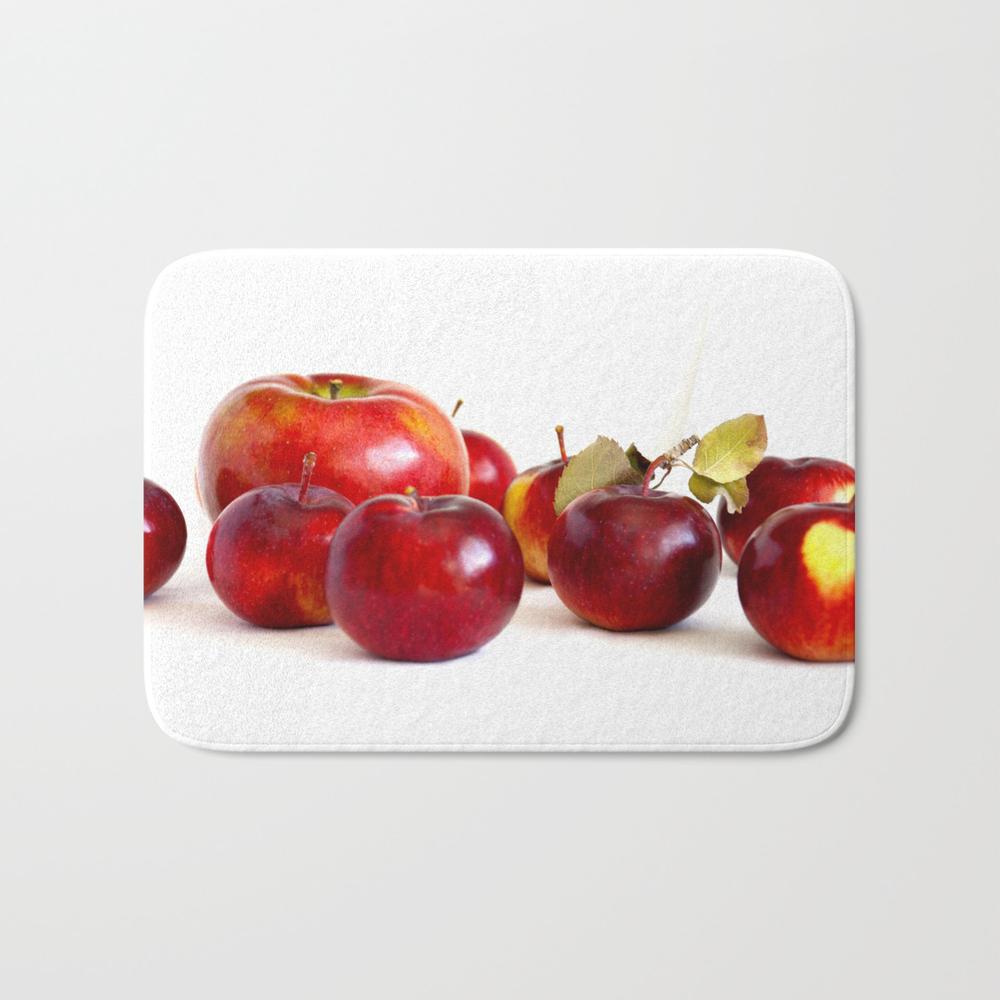 Apple Lineup Bath Mat by Rabbitcooks BMT8258326