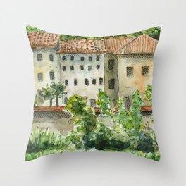 Across the Arno Throw Pillow