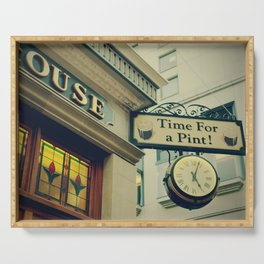 It's time for a pint! Sign - Fine Art Photography Serving Tray
