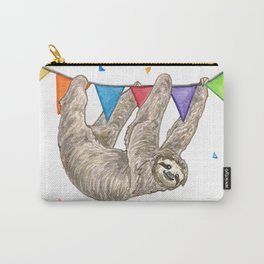 Sloth with Bunting #1 Carry-All Pouch