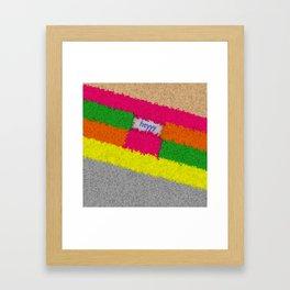 heyyy Framed Art Print