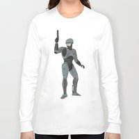 robocop Long Sleeve T-shirts featuring Robocop by James White