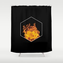 Fire hexagon abstract - Fire sign - The Five Elements Shower Curtain