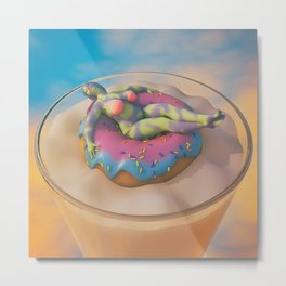 Donut Judge Me Metal Print