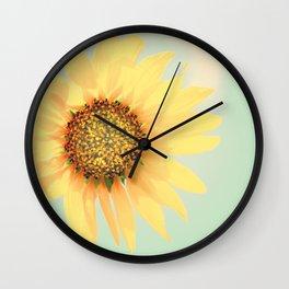 Sunflower Power Pop! Wall Clock