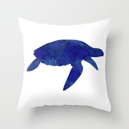 Sea Turtle Watercolor Throw Pillow
