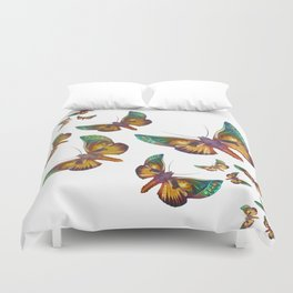 """Fantasy multicolored butterflies"" Duvet Cover"
