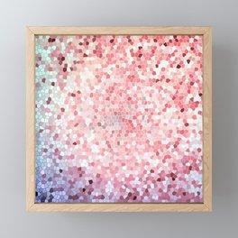 Peach Abstract Rose Gold Design Pattern Texture Framed Mini Art Print