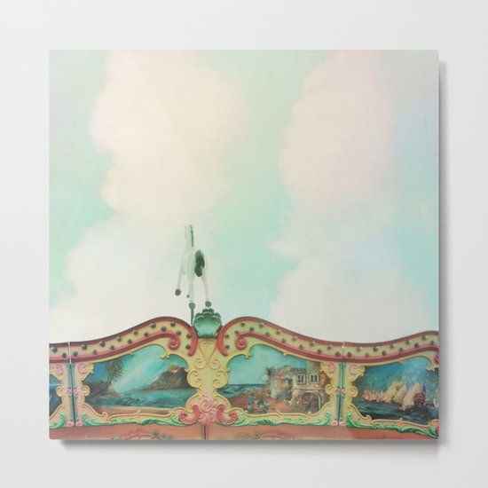 Summer Carousel Metal Print