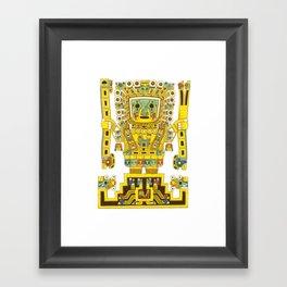 Viracocha Color Framed Art Print