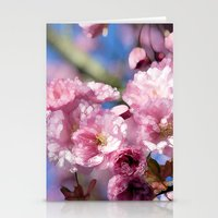 cherry blossoms Stationery Cards featuring Cherry Blossoms by Joke Vermeer