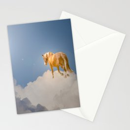 Walking on clouds over the blue sky Stationery Cards