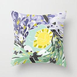 Sun & Moon Child Throw Pillow