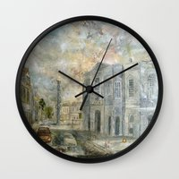 smiths Wall Clocks featuring Smiths Row Gallery 2011 November  by ray sinclair