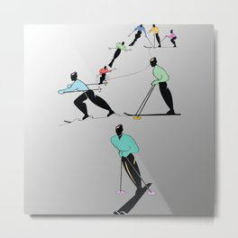 ALPINE TOURING SKI Metal Print