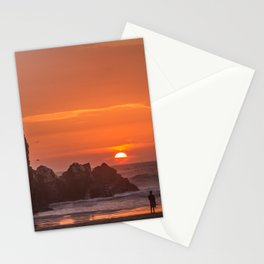 Walk at Sunset Stationery Cards
