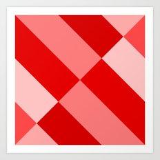 Angled Red Gradient Art Print