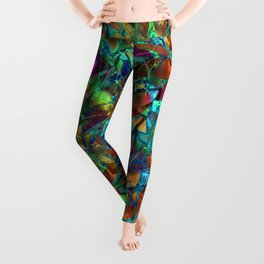 Floral Abstract Stained Glass G290 Leggings