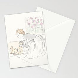 Puppy Dog Tummy Rubs and Hugs Stationery Cards