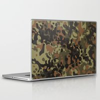 david fleck Laptop & iPad Skins featuring Fleck Tarn Camoflauge  by Derek Boman
