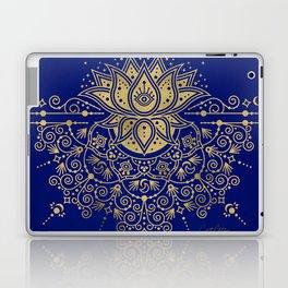 Sacred Lotus Mandala – Navy & Gold Palette Laptop & iPad Skin
