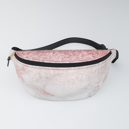 Rose-gold faux glitter and marble ombre Fanny Pack