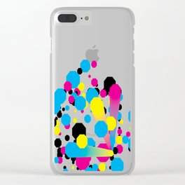 CMYK - Burst Clear iPhone Case