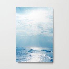 Hookipa Beach Blue Sensation Metal Print