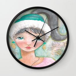 Girl with Pony Tail Wall Clock