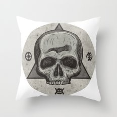 Skull & symbols Throw Pillow