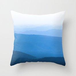 Blue Smoky Mountains Throw Pillow