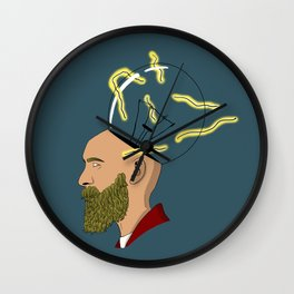 Hipster current Wall Clock