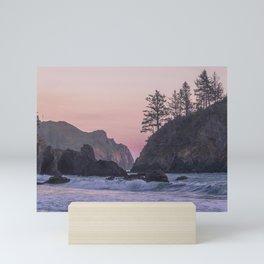 Sunset at College Cove Mini Art Print