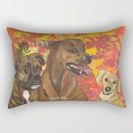 Dogs Bailey , Jake & Maggie Rectangular Pillow